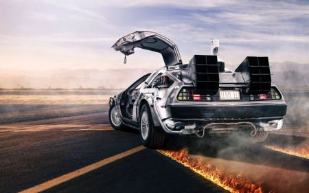 Back To The Future DeLorean DMC-12 Wallpaper