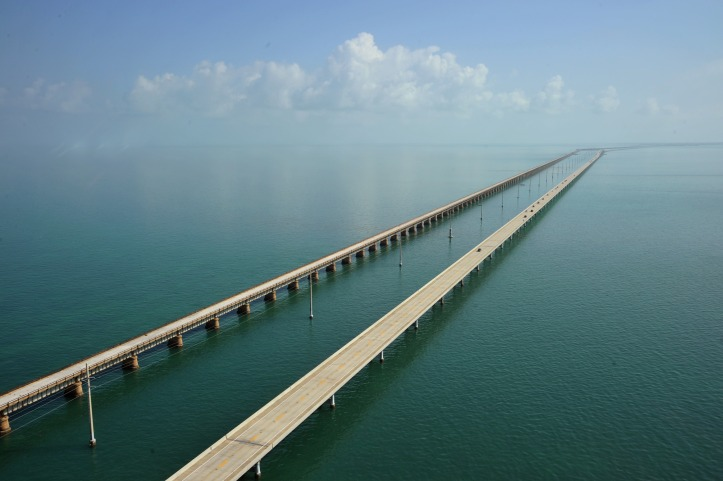 The Seven Mile Bridge looking north towa