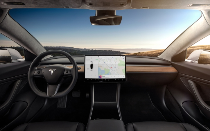 Model 3 Interior Dashboard - Head On