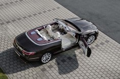 Mercedes-Benz S-Klasse Cabriolet; A 217; Exterieur: designo mokkaschwarz; Interieur: designo Leder porzellan/tizianrot; Zierteile: designo Klavierlack flowing lines schwarz // Exterior: designo mocha black; Interior: designo leather porcelain/tizian red; Trim parts: design piano lacquer, black flowing lines