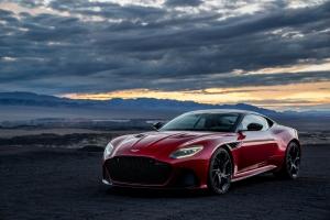 Aston Martin DB Superleggera 2018 statique avant luxe sportive