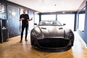 Aston Martin DB Superleggera 2018 miles Nurnberger design supercar avant statique