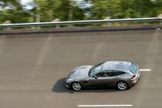 Ferrari GTC4 Lusso T Mortefontaine circuit vitesse dynamique gris