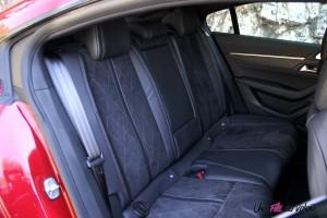 Peugeot 508 GT 2018 banquette arrière intérieur