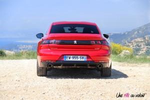Peugeot 508 GT 2018 arrière échappement rouge Ultimate