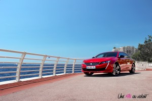 Peugeot 508 GT 2018 statique avant rouge Ultimate essence
