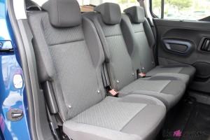 Peugeot Rifter 2018 Allure intérieur banquette arrière