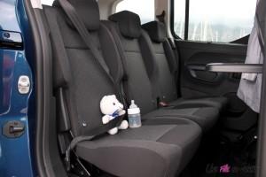 Peugeot Rifter 2018 Allure sièges arrière rangements