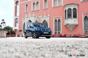 Peugeot Rifter 2018 Allure statique profil bleu