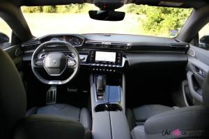 Essai Peugeot 508 intérieur boîte automatique