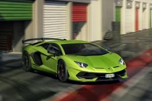 Lamborghini Aventador SVJ 2018 avant dynamique