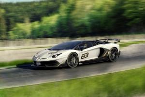 Lamborghini Aventador SVJ 2018 trois quart avant dynamique