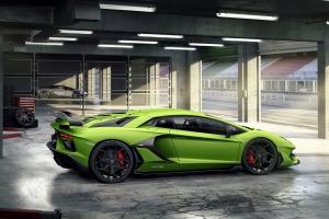 Lamborghini Aventador SVJ 2018 profil vert