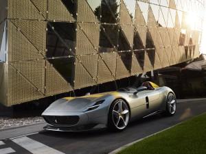 Ferrari Monza SP1 avant barquette gris calandre