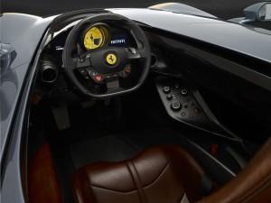 Ferrari Monza SP1 volant intérieur sièges