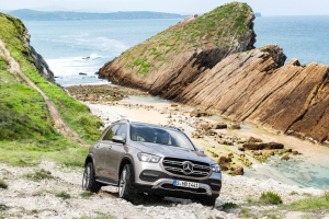 Mercedes GLE 2018 avant statique franchissement