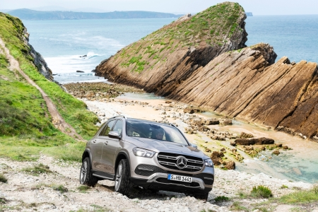 Mercedes GLE 2018 avant statique franchissement
