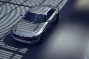 Peugeot e-Legend Concept statique toit silhouette gris jantes