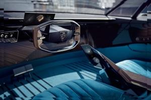 Peugeot e-Legend Concept intérieur volant compteurs