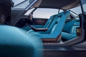 Peugeot e-Legend Concept intérieur sièges bleu