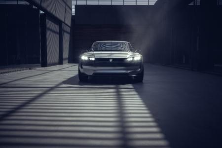Peugeot e-Legend Concept avant statique feux logo