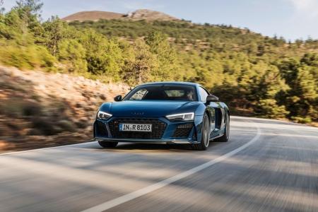 Audi R8 2018 V10 dynamique avant calandre