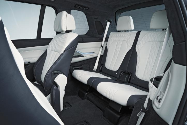BMW X7 2018 arrière banquette sièges