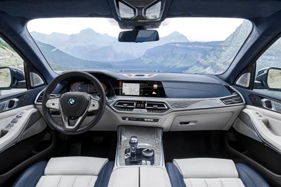 BMW X7 2018 intérieur écran volant