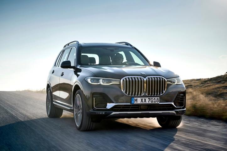 BMW X7 2018 avant calandre feux