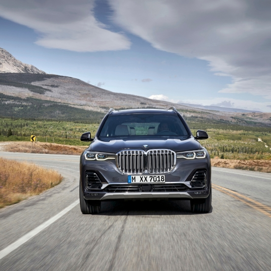 BMW X7 2018 avant dynamique feux calandre capot
