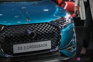 DS 3 Crossback Mondial auto Paris 2018 capot feux calandre