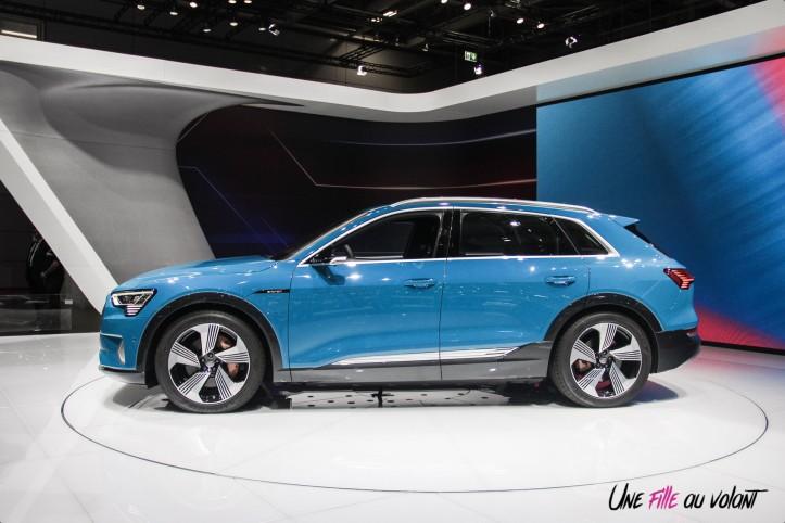 Audi e-tron Mondial auto Paris 2018 profil électrique
