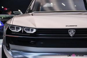 Peugeot e-Legend concept Mondial auto Paris 2018 avant feux calandre logo