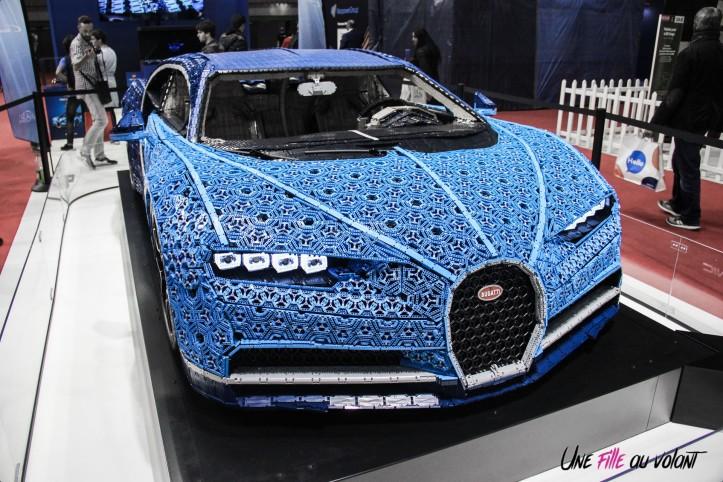 Bugatti Chiron Lego Mondial auto Paris 2018 avant