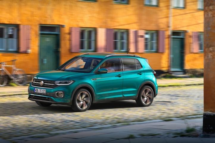 Volkswagen T-Cross 2018 dynamique profil jantes roues