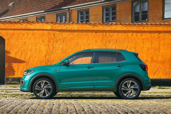 Volkswagen T-Cross 2018 profil jantes bleu R-Line