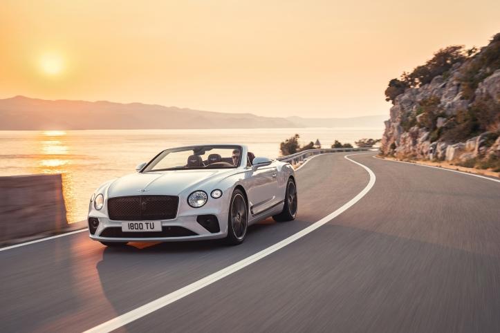 Bentley Continental GT Convertible, avant, calandre, dynamique
