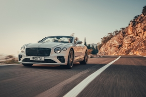 Bentley Continental GT Convertible, cabriolet, feux, avant