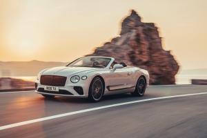 Bentley Continental GT Convertible, profil, cabriolet, feux
