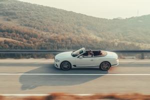 Bentley Continental GT Convertible, profil, dynamique, capote, jantes