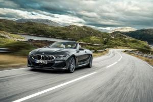 BMW Série 8 cabriolet avant dynamique calandre