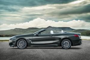BMW Série 8 cabriolet profil jantes roues