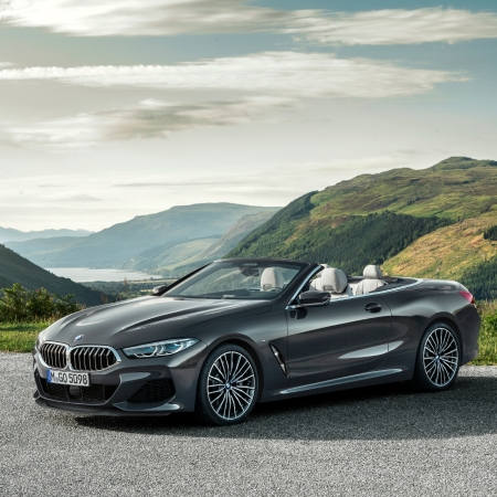 BMW Série 8 cabriolet 2018 jantes statique capote feux