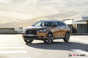 DS 7 Crossback 2018 opéra PureTech orange avant calandre