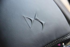 DS 7 Crossback 2018 logo siège détail cuir