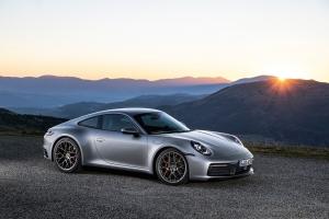 Porsche 911 type 992, profil, jantes roues