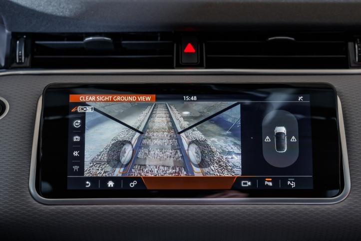 Range Rover Evoque 2018 clear sight ground view technologie écran