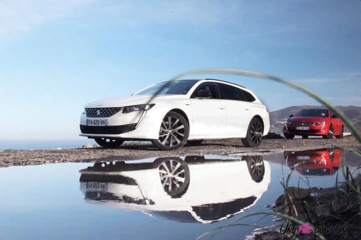Peugeot 508 SW blanc rouge statique