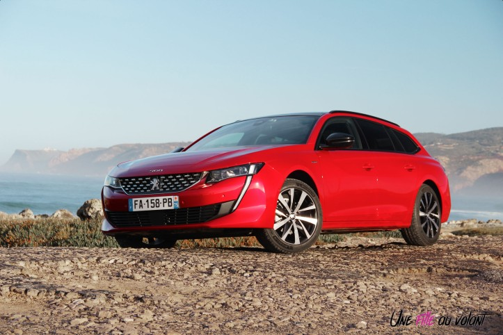 Peugeot 508 SW 2018 rouge ultimate avant