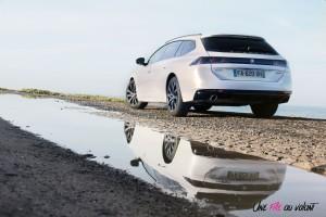 Peugeot 508 SW statique arrière blanc